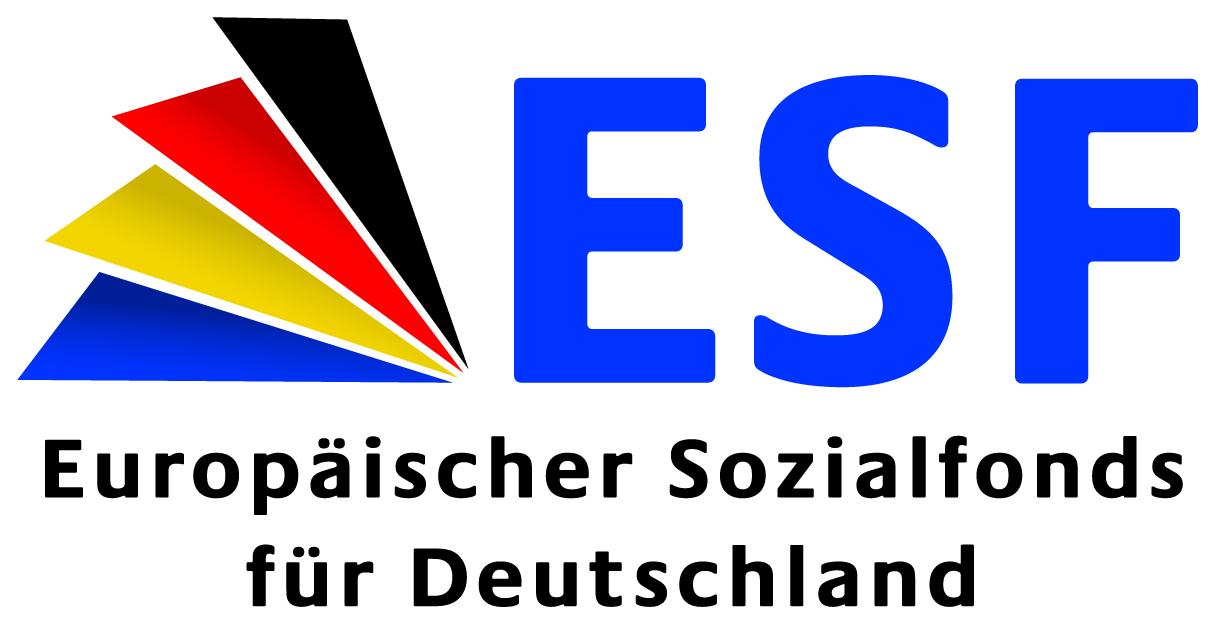 Logo ESF europäischer Sozialfonds für Deutschland